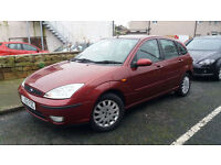 2002 02 FORD FOCUS 1.8i 16V GHIA 5 DOOR.FANTASTIC EXAMPLE.DRIVES VERY WELL.