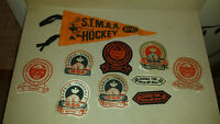 Lot of 1970s/1980s Sarnia Township Hockey Crests & Pennant