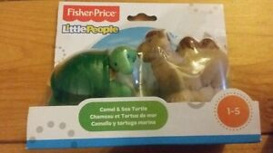 Fisher Price Little People Camel & Sea Turtle Animal Zoo Figures