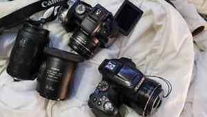 Canon powershot sx20is Panasonic Lumix DMC-FZ70 plus Xtra lenses