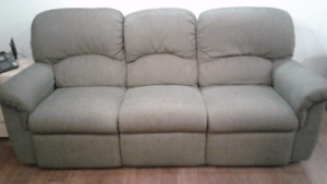 Lazy boy reclining sofa / couch  - great condition, green colour