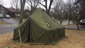10 Man Military Arctic Bell Tent (canvas tent)