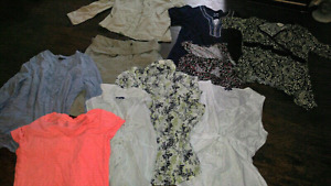 Small bay of womans clothes. Size lrg-xl