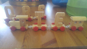 Small Wooden Letter Trains