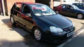 VW VOLKSWAGEN GOLF 1.9 TDI BLUEMOTION DIESEL IN BLACK £30 TAX ECONOMICAL 2008 08