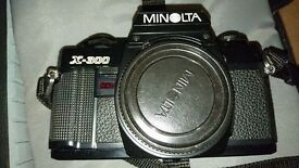 Minolta X-300 Manual SLR plus a lot of extras
