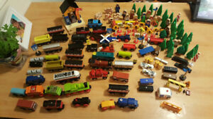2 wood train sets plus some extras