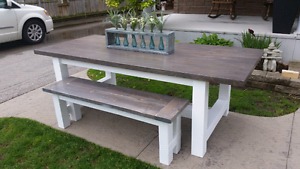 DINING TABLE & BENCH COMBO