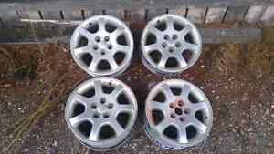 Set of 15 inch rims for sale. Must go fast! Prince George British Columbia image 1