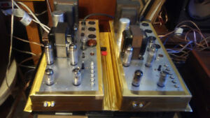 A PAIR OF ELECTROHOME ULTRALINEAR MONO BLOCK TUBE AMPS