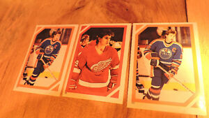 1985 Hockey Stickers Gretzky (Oilers), Yzerman (Red Wings), more