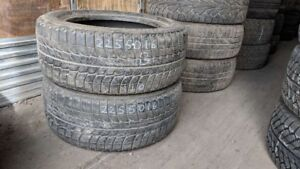 Pair of 2 Michelin XIce 225/50R16 WINTER tires (70% tread life)