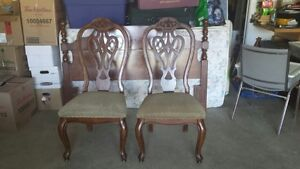 2 Vintage Dining Room Chairs