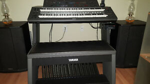 PRICE DROP ----Yamaha HX1 Keyboard with Powered Speakers, bench.