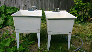 2 x laundry sinks with faucets $40 each please
