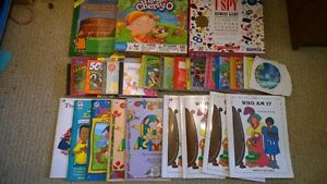Home school books/curriculum/games/toddler CD's