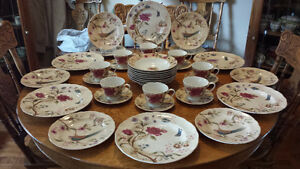 38 Pc of Fifth Int'l Porcelaine China~6 Plate Setting & Extras!