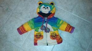 Rainbow Monkey Jacket size 2-3T