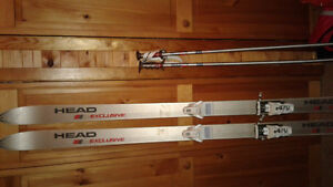 Skis Poles and boots