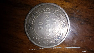 1885 Newfoundland 50 cent coin great condition Cornwall Ontario image 1