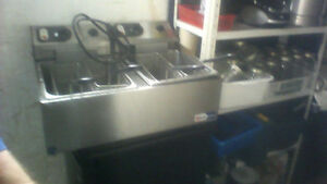 Omcan 4 basket table top deep fryer