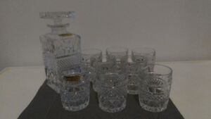 Bohemia Crystal Madison 9 Piece Whisky Set