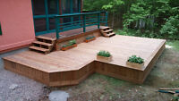 Construction patio (deck)