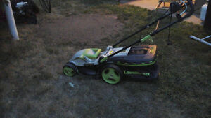 electric lawnmower, almost new!