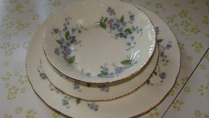 """Paragon-""""Forget me not"""" Fine Bone China 8 piece setting"""
