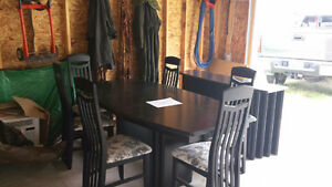 9 piece solid wood dinette