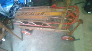 Vintage wirlich wagon and spitfire sled