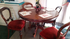 Antique kitchen table setting