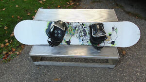 Sims snowboard with bindings and boots Kitchener / Waterloo Kitchener Area image 4