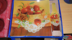 new 10'' SQUARE GLASS PLATE AND SERVER plat dish