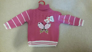 Very warm baby girl sweater brand new with tag. Oakville / Halton Region Toronto (GTA) image 1