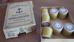 7 Wooden Threads and Clark & Co's Original Box