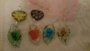 Murano Glass Jewlery Pendants and Rings