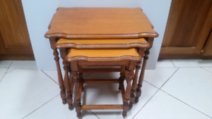 Aust. made vintage NEST OF TABLES, see my photos of makeovers