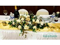 Event decor service from as little as £0.80 per chair cover inc sash for DIY & £1.80 for full set up
