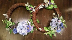 Floral wreaths, custom made, NEW NEVER USED