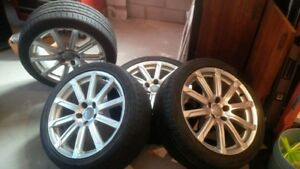 """4 Audi 18"""" Wheels and Tires"""