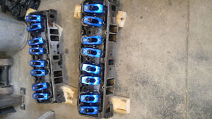 Sbc camel hump cylinder heads 461. Ported 350 chevy heads