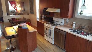 Armoires, comptoirs, ilot et évier de cuisine (lot décomposable)