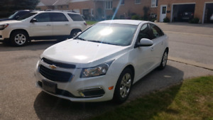 2015 Chevrolet Cruze, mint condition, low km's, warranty
