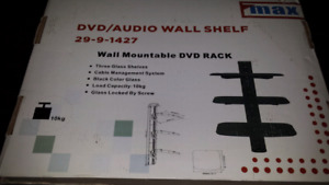 Wall mountable DVD rack