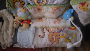 Winnie the pooh complete crib beading set and more.