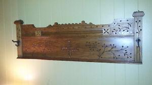 Antique carved headboad Single bead