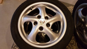 Porsche twist wheels with 5x100 adapters Kitchener / Waterloo Kitchener Area image 3