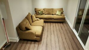 Love seat and sofa