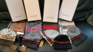 GUCCI SCARF AND HAT SET TUQUE FOULARD BEENIE BRAND NEW AUTHENTIC